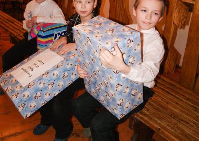 Подарки от лицеистов для детей Сосновской школы - интерната