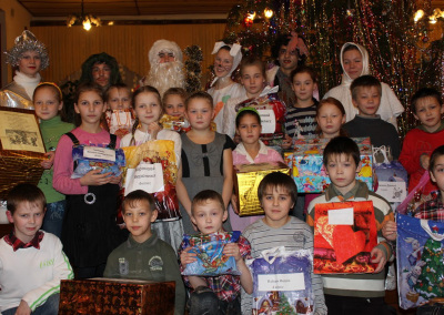 Подарки от лицеистов детям Сосновской школы - интерната