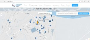 терминалы на карте