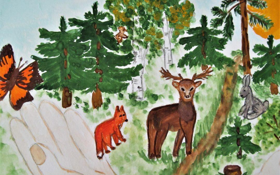 Лес в творчестве юных
