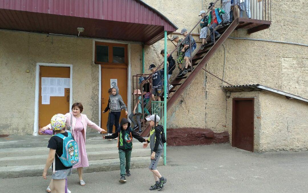Учебная эвакуация лагеря
